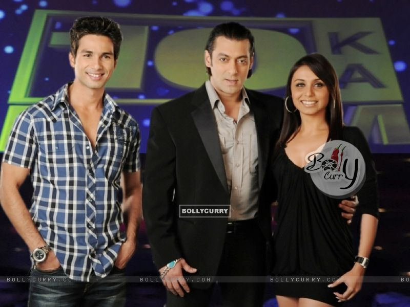 Salman Khan with Shahid Kapoor and Rani Mukherjee (37742) size:800x600