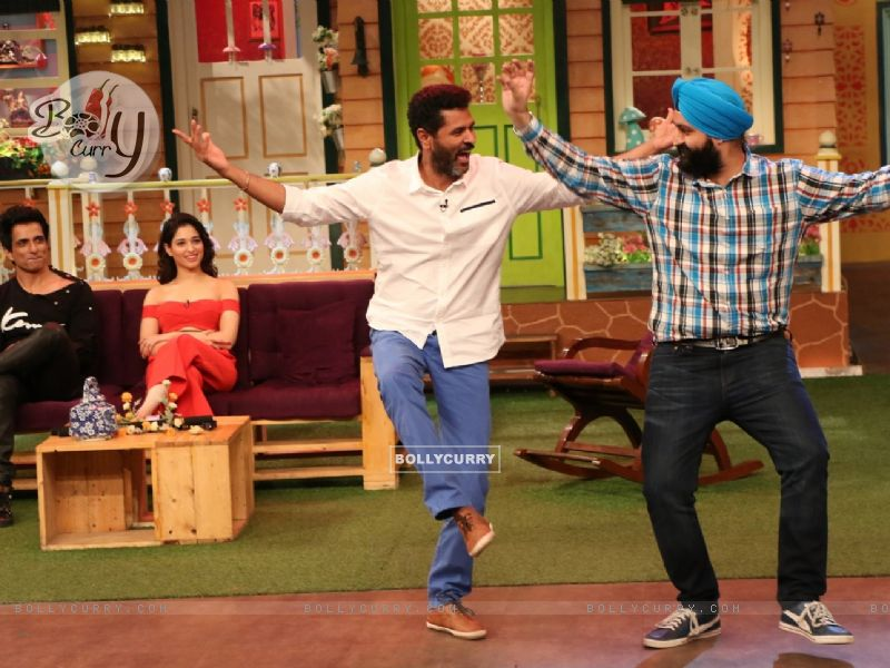 Prabhu Dheva dances at Promotion of 'Tutak Tutak Tutiya' on sets of The Kapil Sharma Show (421059) size:800x600